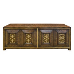 Mastercraft Credenza in Carpathian Elm and Brass 1960s 'Signed'