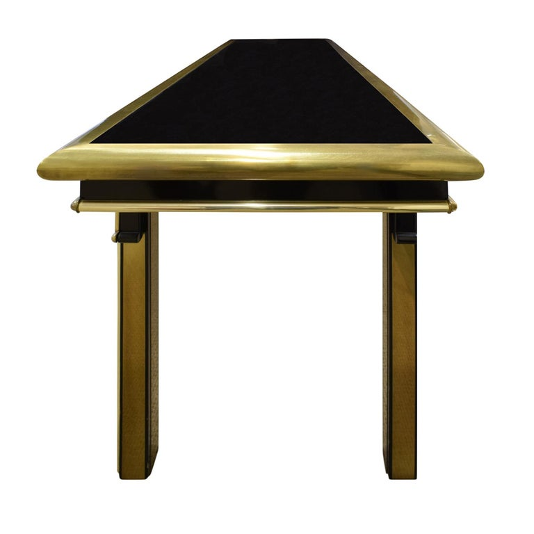 Mid-Century Modern Mastercraft Exceptional Greek Key Console 1960s 'Signed' For Sale