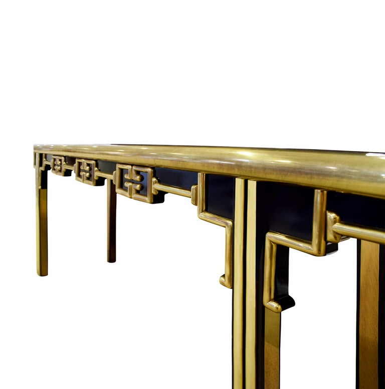 American Mastercraft Exceptional Greek Key Console 1960s 'Signed' For Sale