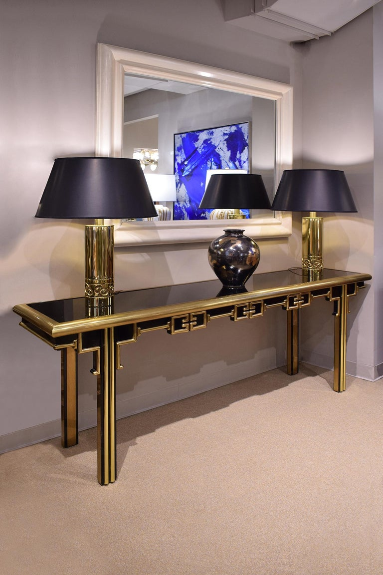 Mastercraft Exceptional Greek Key Console 1960s 'Signed' In Excellent Condition For Sale In New York, NY