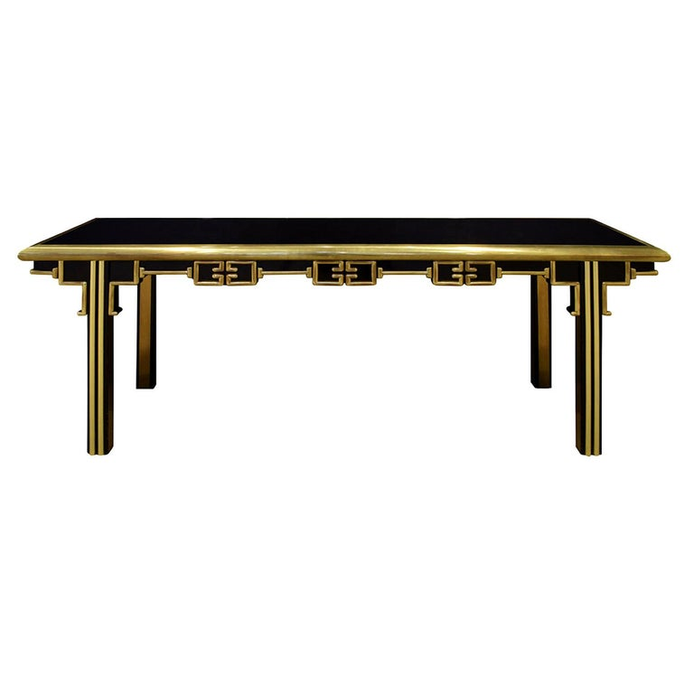 Mastercraft Exceptional Greek Key Console 1960s 'Signed' For Sale