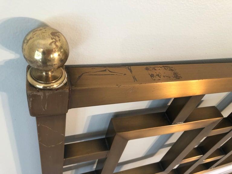 Mastercraft Greek Key Brass King Size Headboard For Sale 11