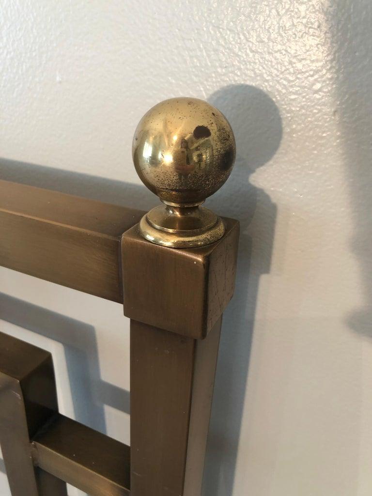 Mastercraft Greek Key Brass King Size Headboard For Sale 12