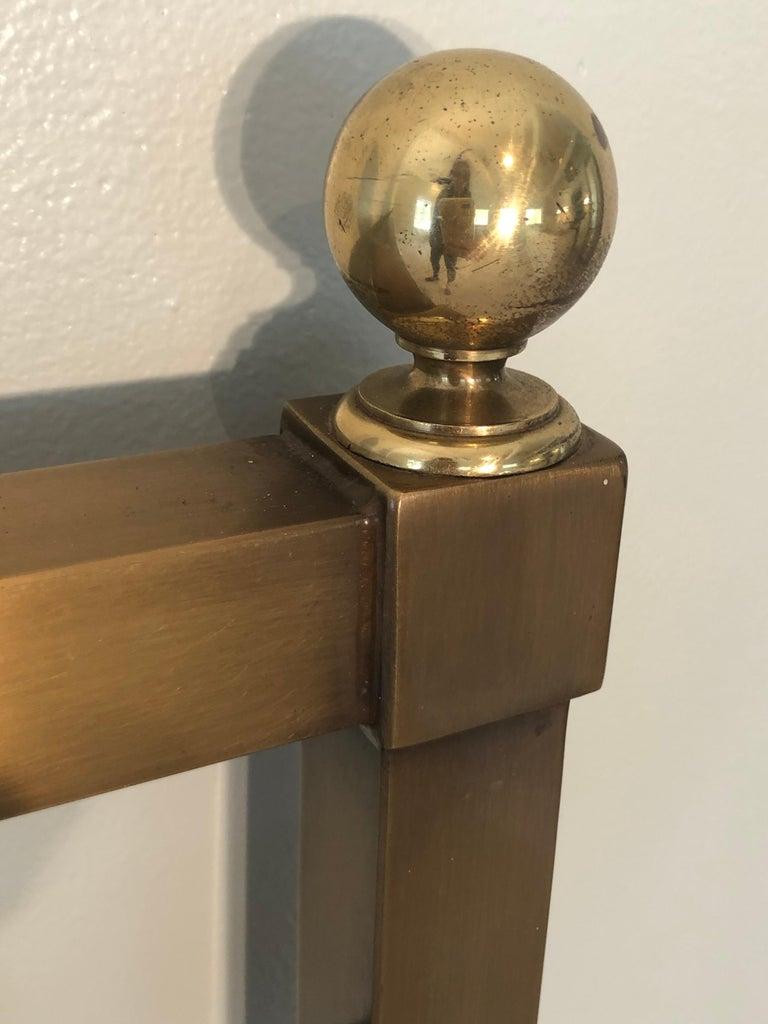 Mastercraft Greek Key Brass King Size Headboard For Sale 13