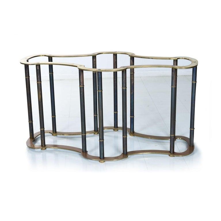 Glass Mastercraft Hollywood Regency Brass Bamboo