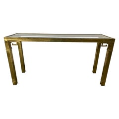 Mastercraft Hollywood Regency Brass Console or Sofa Table, 20th Century
