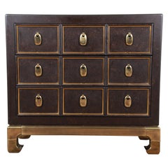 Mastercraft Hollywood Regency Faux Tortoise Shell and Brass Chest of Drawers