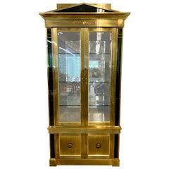Mastercraft Lighted Brass Display Cabinet Vitrine Iconic Mid-Century Modern