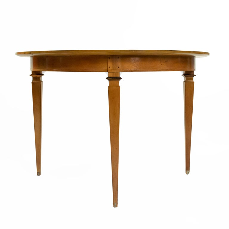 American Mastercraft Mid-Century Bleached Mahogany Dining Table For Sale