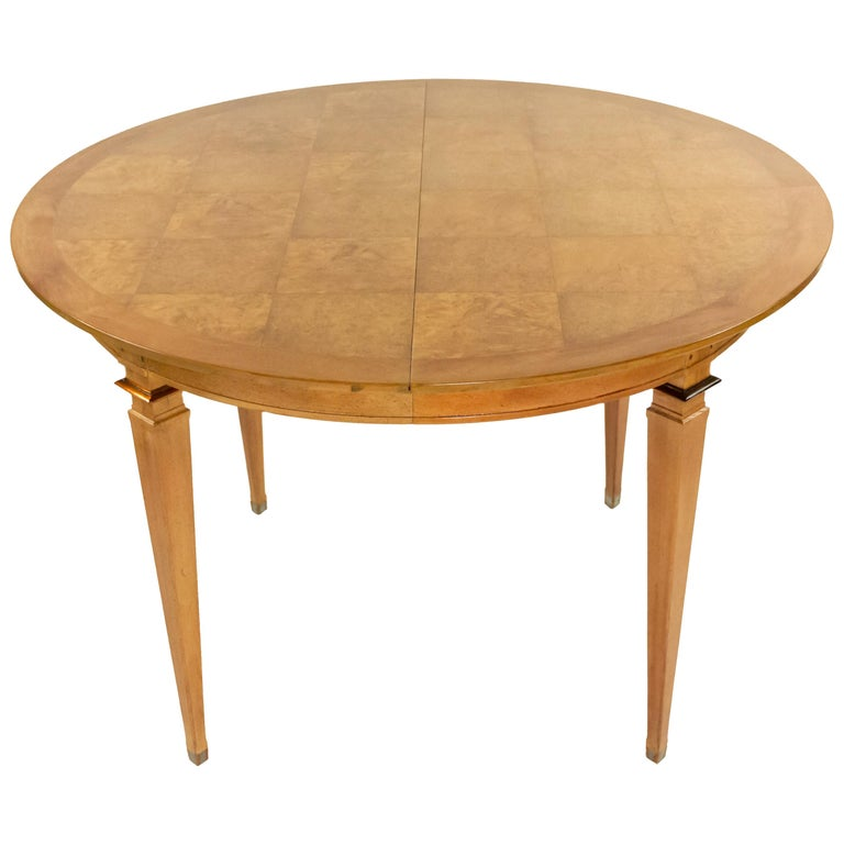 Mastercraft Mid-Century Bleached Mahogany Dining Table For Sale
