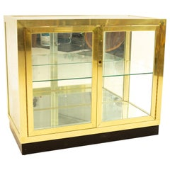 Mastercraft Mid Century Brass and Glass Display Cabinet