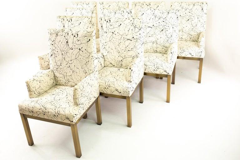 Mid-Century Modern Mastercraft Mid Century Bronze Dining Chairs, Set of 10 For Sale
