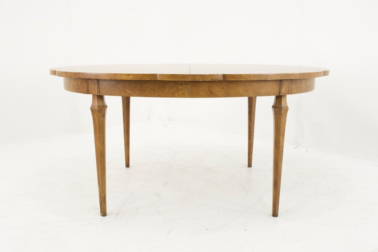 Mastercraft Mid Century Burlwood Dining Table