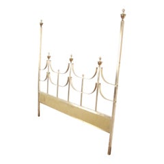 Mastercraft Midcentury Hollywood Regency Solid Brass King Size Headboard, 1970s