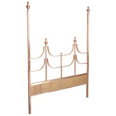 Mastercraft Midcentury Hollywood Regency Brass Queen Size Headboard, 1970s