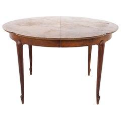 Mastercraft Mid Century Walnut and Burl Wood Dining Table