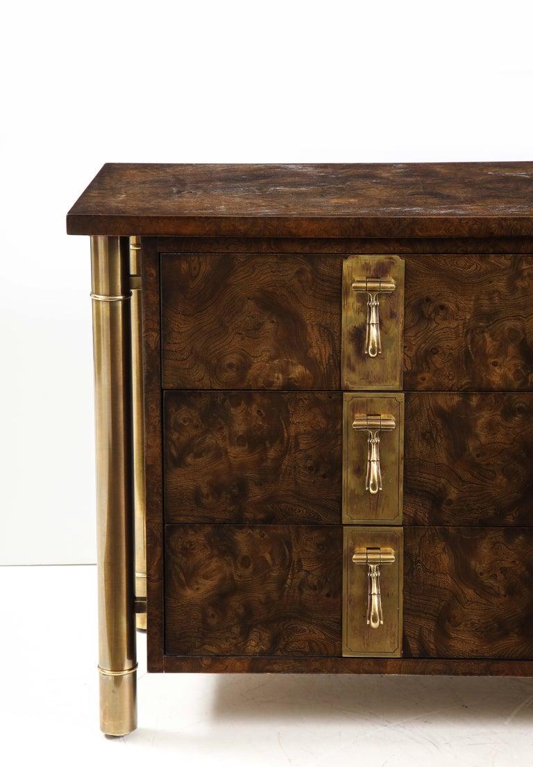 American Mastercraft Nine-Drawer Dresser with Brass Hadware For Sale