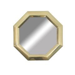 Mastercraft Style Brass Hexagonal Wall Mirror