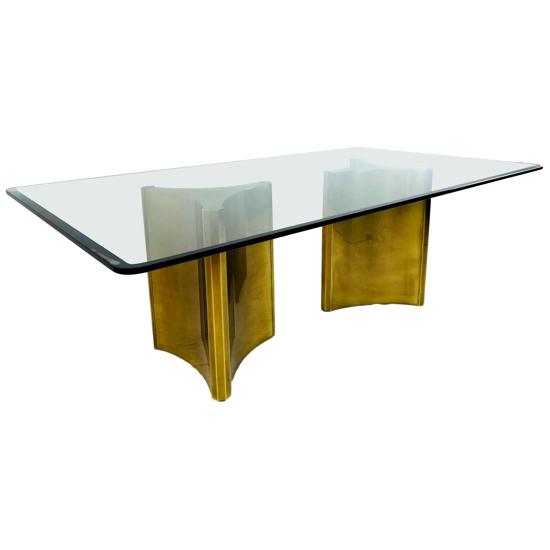 "Mastercraft ""Trilobi"" Brass Pedestal Table"