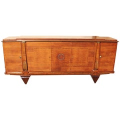 Masterpiece French Art Deco Sideboard / Buffet Rosewood by Jules Leleu Style