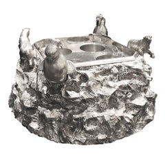 Masterpiece Victorian Iceberg Silver-Plated Bottles or caviar Cooler