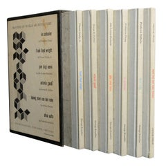 """""""Masters of World Architecture"""" Six Volume Set Book Collection, George Braziller"""