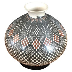 Mata Ortiz Pottery Geometric Vase by Blanca Ponce