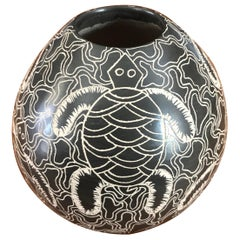 Mata Ortiz Pottery Turtle Vase by Celia Ortega