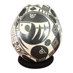 Mata Ortiz Pottery Vase by Marcia Ortiz
