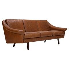 Matador Leather Three Seat Sofa by Aage Christiansen
