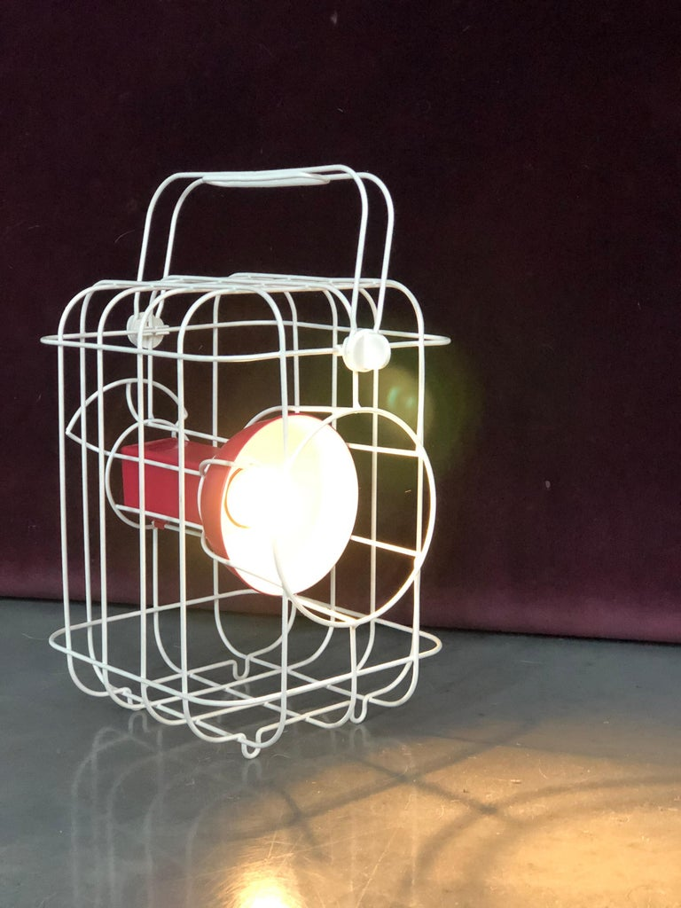 French designer Matali Crasset has created a lamp based on traditional railway lighting for IKEA's PS 2017 collection. Crasset took inspiration from classic hand-held railway lanterns for the design.