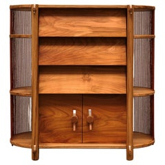 Matang, Accacia, a Walnut and Cherry Wood Cabinet