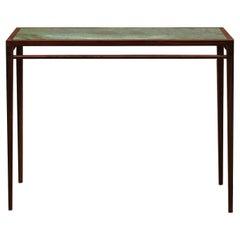 Matang, Ganga Console, Rectangular Wood and Marble Table