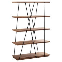 Matassa Large Bookcase in Black Iron Rebar, by Luigi Semeraro