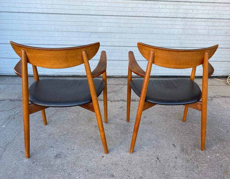 Matched Pair of Armchairs by Harry Østergaard, Denmark, Early 1960s For Sale 3