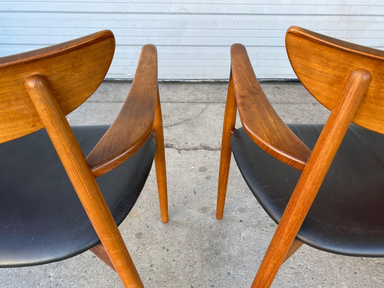 Matched Pair of Armchairs by Harry Østergaard, Denmark, Early 1960s For Sale 4