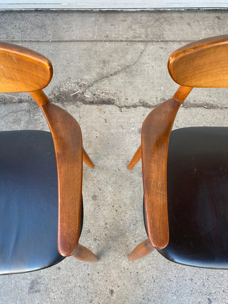 Matched Pair of Armchairs by Harry Østergaard, Denmark, Early 1960s For Sale 6