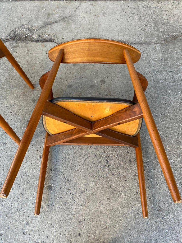 Matched Pair of Armchairs by Harry Østergaard, Denmark, Early 1960s For Sale 9