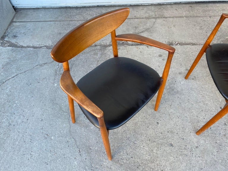 Scandinavian Modern Matched Pair of Armchairs by Harry Østergaard, Denmark, Early 1960s For Sale