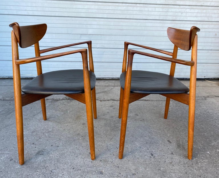 Danish Matched Pair of Armchairs by Harry Østergaard, Denmark, Early 1960s For Sale