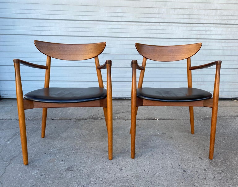 Matched Pair of Armchairs by Harry Østergaard, Denmark, Early 1960s For Sale 1