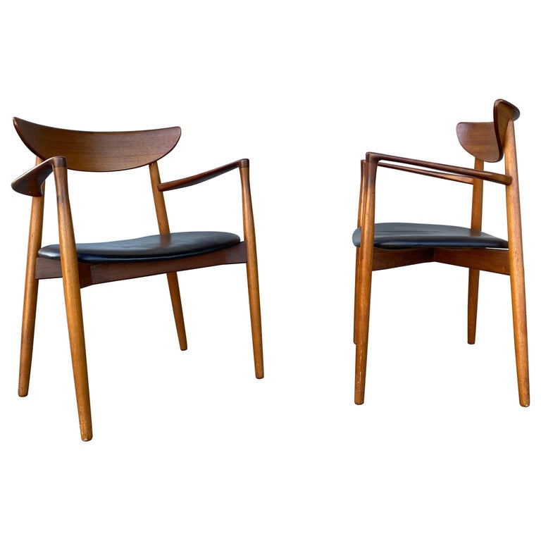 Matched Pair of Armchairs by Harry Østergaard, Denmark, Early 1960s For Sale