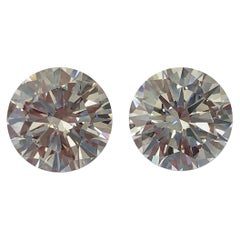 Matched Pair D-Color Internally Flawless Diamonds 8.13 Carat Total