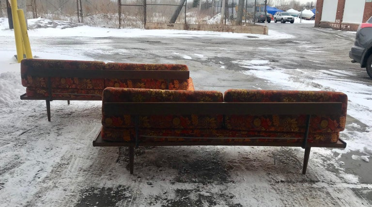 Matched Pair of Modernist Daybeds Designed by Adrian Pearsall For Sale 4