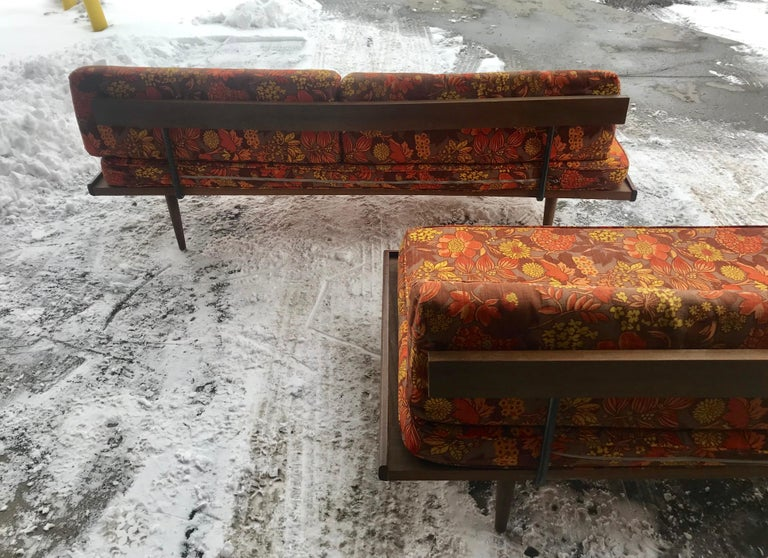 Matched Pair of Modernist Daybeds Designed by Adrian Pearsall For Sale 6