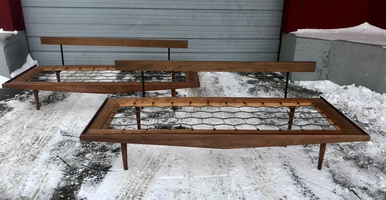 Mid-Century Modern Matched Pair of Modernist Daybeds Designed by Adrian Pearsall For Sale