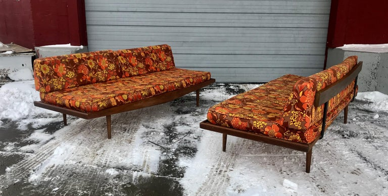 American Matched Pair of Modernist Daybeds Designed by Adrian Pearsall For Sale