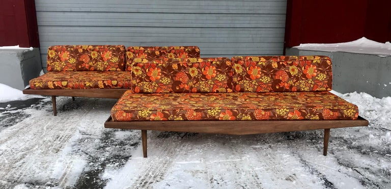 Matched Pair of Modernist Daybeds Designed by Adrian Pearsall For Sale 2