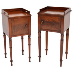 Matched Pair of Antique Victorian Mahogany Side Cabinets