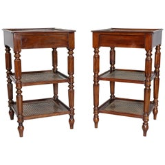 Matched Pair of Charles X Mahogany End Tables
